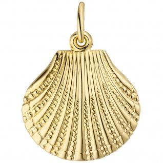 Anhänger Muschel 333 Gold Gelbgold Goldanhänger