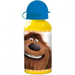 THE SECRET LIFE OF PETS Kinder Trinkflasche aus Aluminium gelb blau 400 ml