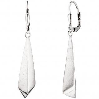 Boutons 925 Sterling Silber mattiert mit Glitzereffekt Ohrringe Ohrhänger