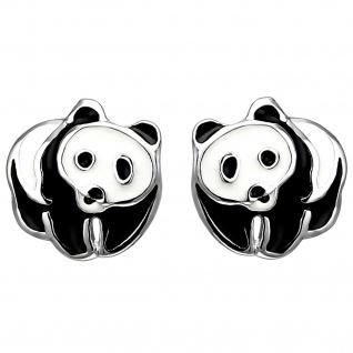 Kinder Ohrstecker Panda 925 Sterling Silber Ohrringe Silberohrringe