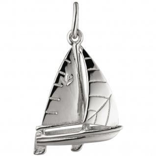 Anhänger Segelschiff Segelboot 925 Sterling Silber Silberanhänger