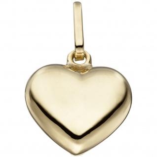 Anhänger Herz 925 Sterling Silber gold vergoldet Herzanhänger