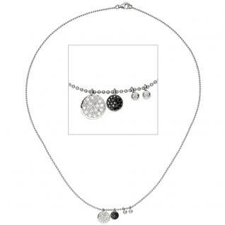 Collier Halskette Kette 585 Gold Weißgold 40 Diamanten Brillanten 43 cm