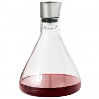 Blomus Dekantierkaraffe DELTA, Glas mit Edelstahl matt kombiniert