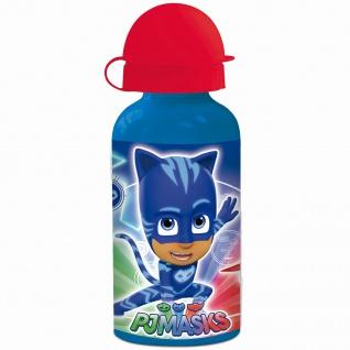 PJ MASKS Kinder Trinkflasche aus Aluminium blau rot 400 ml - Vorschau