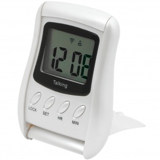 Atlanta 6736 Sprechender Wecker digital silbern Snooze Digitalwecker