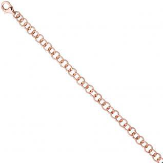 Rundankerarmband 925 Silber rotgold vergoldet 19 cm Armband Ankerarmband
