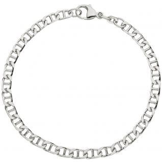 Armband 925 Sterling Silber rhodiniert 21 cm Silberarmband Karabiner - Vorschau 2
