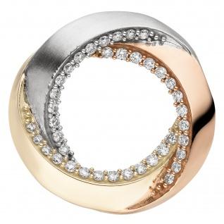 Anhänger 585 Gelbgold tricolor vergoldet 39 Diamanten Brillanten