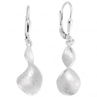 Ohrhänger 925 Sterling Silber matt Ohrringe Boutons Silberohrringe