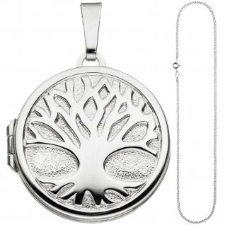 Medaillon Anhänger Baum des Lebens Weltenbaum rund 925 Silber mit Kette 50 cm - Vorschau 2