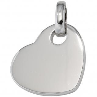 Anhänger Herz 925 Sterling Silber rhodiniert Herzanhänger