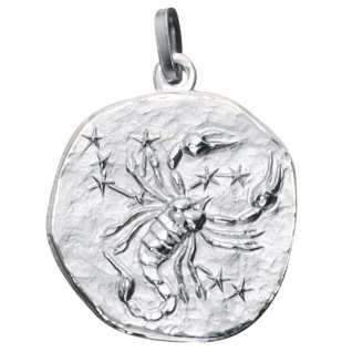 Anhänger Sternzeichen Skorpion 925 Sterling Silber matt Sternzeichenanhänger