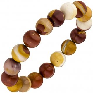 Armband Mookait 19 cm Mookaitarmband Edelsteinarmband elastisch