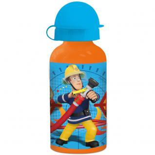 FEUERWEHRMANN SAM Kinder Trinkflasche aus Aluminium orange blau 400 ml