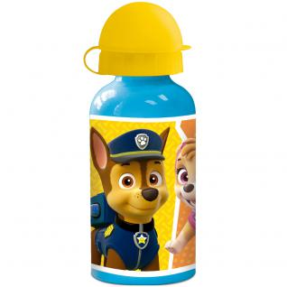 PAW PATROL Kinder Trinkflasche aus Aluminium blau gelb 400ml