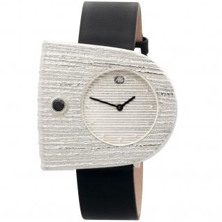 ARS Damen-Armbanduhr Quarz Analog 925 Sterling Silber Lederband Mineralglas - Vorschau 1