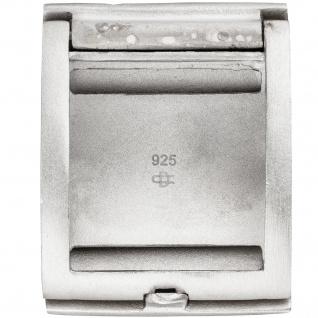 Medaillon eckig für 1 Foto 925 Sterling Silber matt mattiert Anhänger zum Öffnen - Vorschau 2