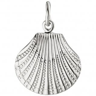 Anhänger Muschel 925 Sterling Silber Silberanhänger