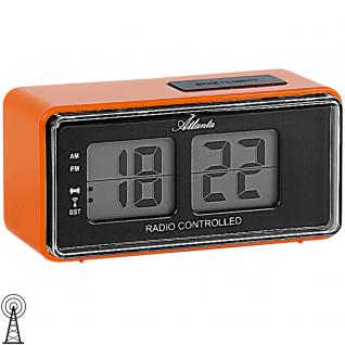 Atlanta 1881/12 Wecker Funk Funkwecker digital orange Licht Snooze Digitalwecker