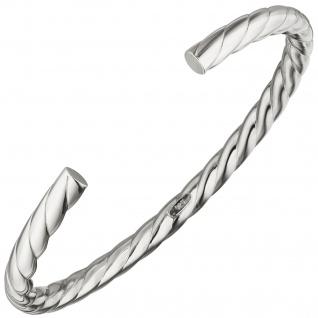 Armspange / offener Armreif 925 Sterling Silber Armband Silberarmreif oval