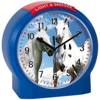 Atlanta 1189/5 Wecker Kinderwecker Pferd Quarz blau Pferdewecker für Kinder