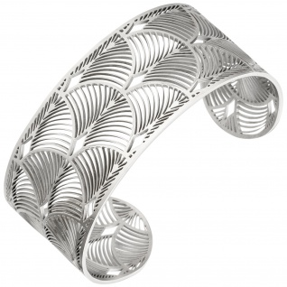 Armspange / offener Armreif Edelstahl Armband