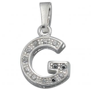 Anhänger Buchstabe G 925 Silber Buchstabenanhänger