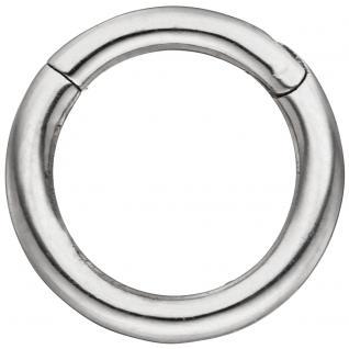 Segmentring aus Edelstahl mit Klick-System Scharnier Ringstärke 1, 2 mm
