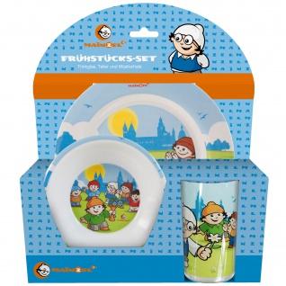 MAINZELMÄNNCHEN Frühstücks-Set für Kinder Kindergeschirr Trinkflasche Brotdose - Vorschau 2