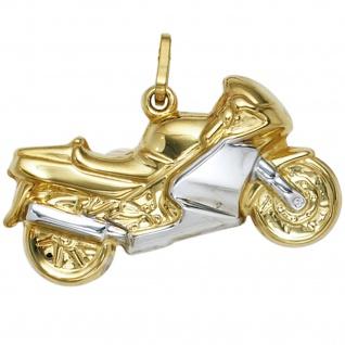 Anhänger Motorrad 333 Gold Gelbgold bicolor