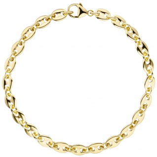 Armband Kaffeebohne 585 Gold Gelbgold 21 cm Goldarmband Kaffeebohnen-Armband