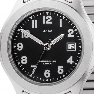 JOBO Damen Armbanduhr Quarz Analog Edelstahl Flexband Datum Damenuhr - Vorschau 2