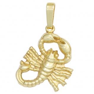 Anhänger Sternzeichen Skorpion 333 Gold Gelbgold Sternzeichenanhänger