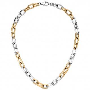 Halskette Kette Edelstahl mit gelbgoldfarben beschichtet 49 cm
