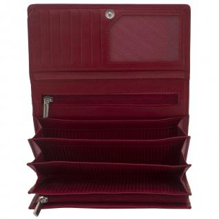 Friedrich Lederwaren Geldbörse MANDALA Nappa Leder rot RFID Schutz - Vorschau 1