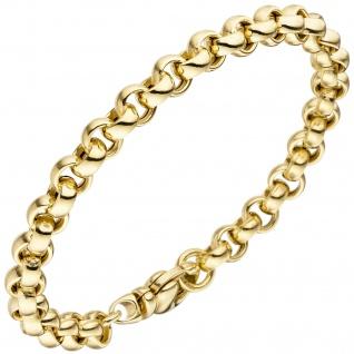 Erbsarmband 585 Gold Gelbgold 19 cm Armband Goldarmband Karabiner