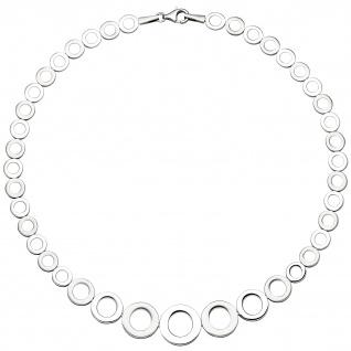 Collier Halskette im Verlauf 925 Sterling Silber 45 cm Kette
