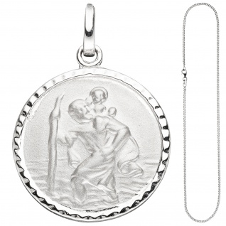 Anhänger Schutzpatron Christopherus 925 Sterling Silber mit Kette 42 cm - Vorschau 2