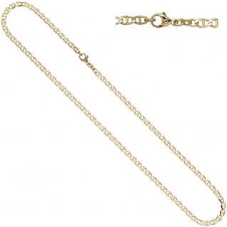 Steg-Panzerkette 585 Gelbgold 3, 7 mm 45 cm Gold Kette Halskette Goldkette