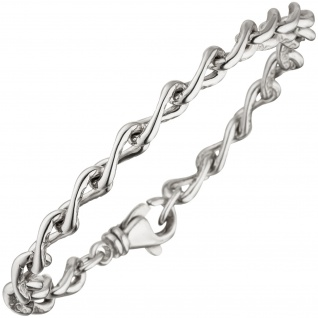 Panzerarmband 925 Sterling Silber mit Struktur 19 cm Armband Silberarmband