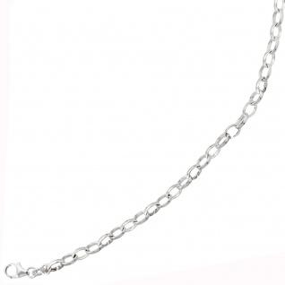 Armband 925 Sterling Silber rhodiniert 21 cm Silberarmband Karabiner - Vorschau 4