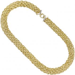 Collier Halskette 375 Gold Gelbgold 48, 5 cm Kette Goldkette