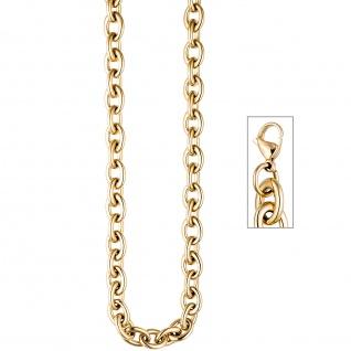 Collier / Halskette aus Edelstahl gold farben beschichtet 49 cm Kette
