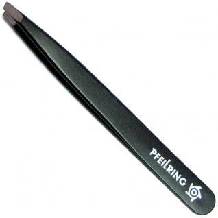 Pfeilring Pinzette, 9, 5 cm, Edelstahl INOX schwarz, ideal bei Nickelallergie