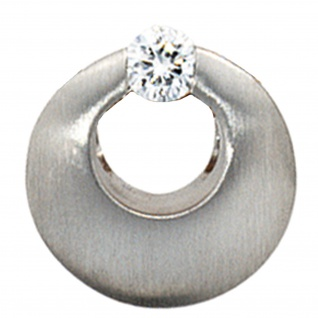 Anhänger rund 950 Platin mattiert 1 Diamant Brillant 0, 09ct. Platinanhänger