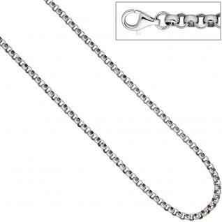 Erbskette 925 Sterling Silber 4, 5 mm 50 cm Kette Halskette Silberkette Karabiner - Vorschau 3