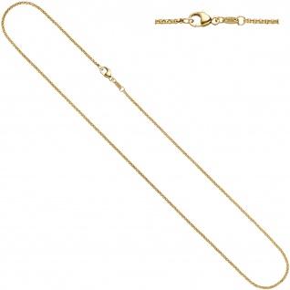 Erbskette 585 Gelbgold 1, 5 mm 36 cm Gold Kette Halskette Goldkette Karabiner