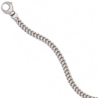 Armband 585 Gold Weißgold 19 cm Goldarmband Karabiner - Vorschau 4