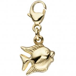 Einhänger Charm Fisch 333 Gold Gelbgold Anhänger Goldcharm